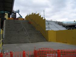 Rebuilding the stairs to the Bourke Street bridge