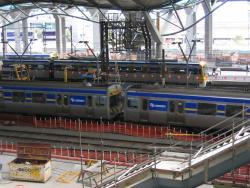 Southern Cross: Suburban trains on the western platforms