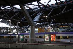 Southern Cross: Another rip in the roof, with State Emergency Service tape below it