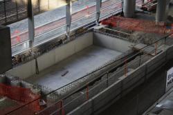 Pit for the base of the escalators serving future platform 15/16