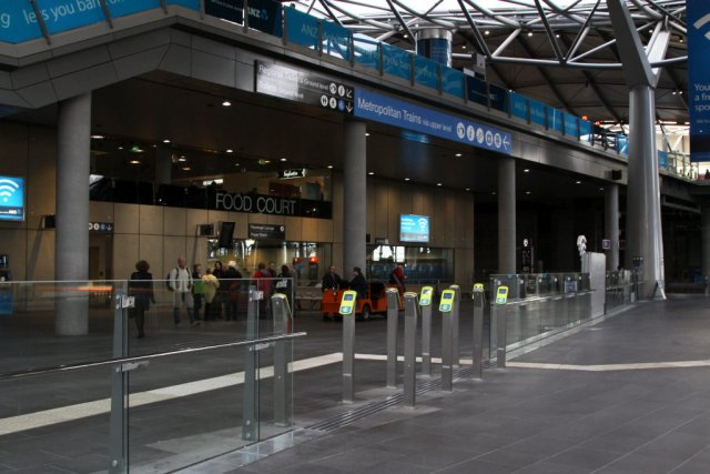 Myki FPDs on the entry to the country platforms