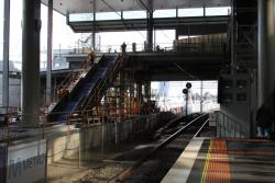 New stairwell at the Bourke Street end of platform 15/16 taking shape