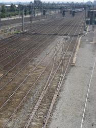 Track rearrangement at the entry to the station