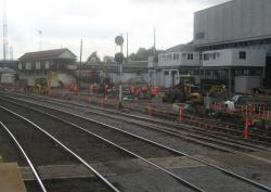 Resignalling work at Southern Cross
