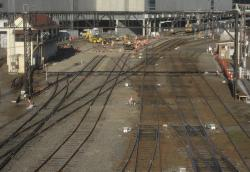 Work on the dual gauge lead into platform 1