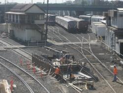 Work on the motorail dock