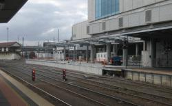 Extension of platform 1/2 underway