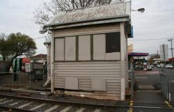 Front view of the signal box