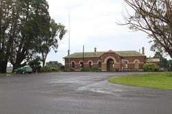 Street frontage of Terang station