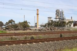 Vacuum Oil Company siding: Metro's rubbish tip, located beside the Werribee line at Paisley
