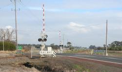 Princes Highway crossing looking towards Colac