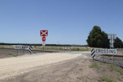 Unprotected level crossing at Aireys Reserve Road