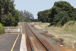 Repeating signal for down trains approaching Warncourt Loop, located at the down end of Birregurra station