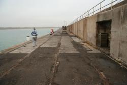 Fourth and final crossover on the breakwater