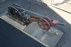 Quadrant lever on the platform, with Annett Key lock