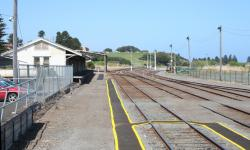 View from the up end of the platform towards the goods shed