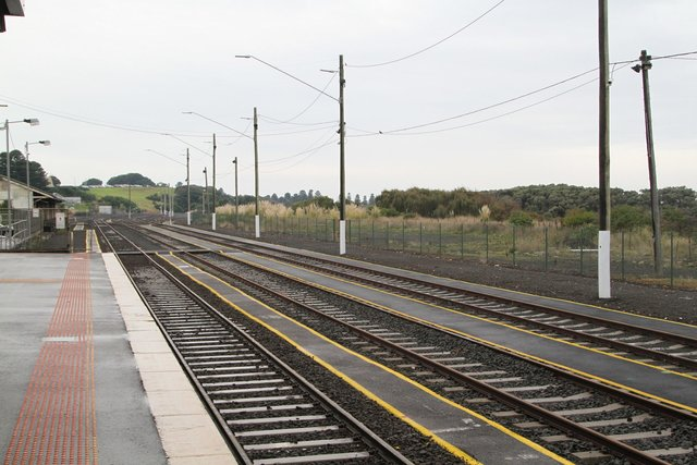 Upgraded walkways and sidings in the yard at Warrnambool