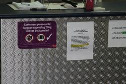 V/Line luggage guidelines at Warrnambool station