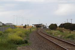 Looking down the line from Ghazeepore Road towards Waurn Ponds station