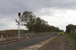 Holding siding for Waurn Ponds station, located west of Anglesea Road