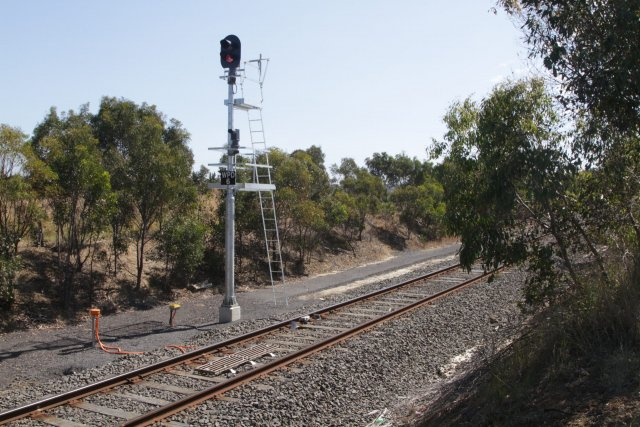 Home signal WPD8 for up trains arriving at Waurn Ponds