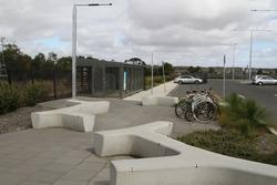Bike parking at Waurn Ponds station