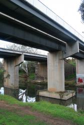 Railway bridges over the Werribee River