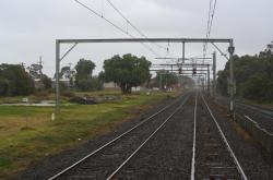 Werribee up end, remains of goods yard to left