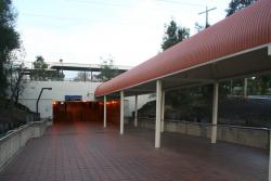 Western entry to the Werribee station subway