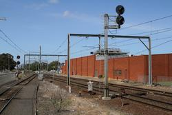 Signal 16 and 12 for up trains departing Werribee