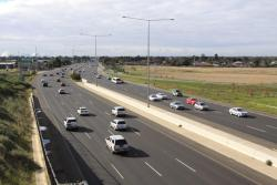 Looking east from Palmers Road over the Princes Freeway