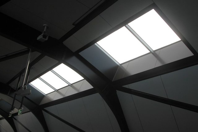 Skylights on the main station concourse