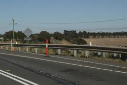 Looking down the line from the original Princes Highway overpass east of Winchelsea