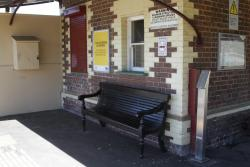 Unused myki FPD stand in place beside the booking office