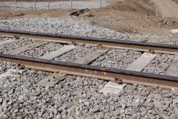 1 in 2 replacement with concrete sleepers during the recent occupation