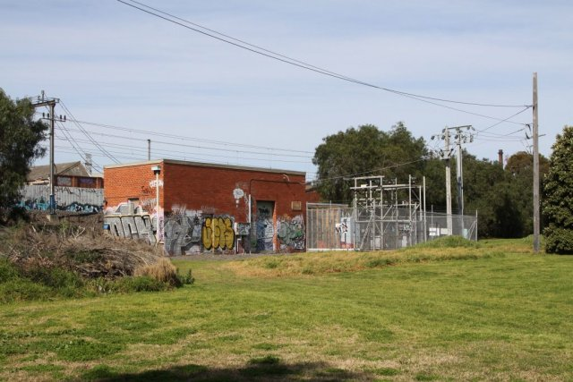 Yarraville traction substation on the down side of Francis Street
