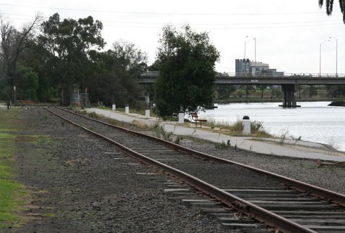 Looking north from Bunbury Street towards the main line