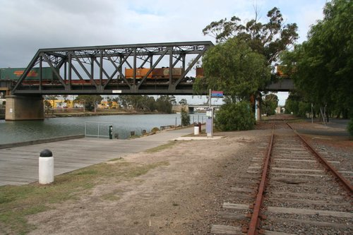 Looking south from Bunbury Street down the line past the freight line