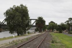 Maribyrnong River Line: Looking down the line at Saltriver Place