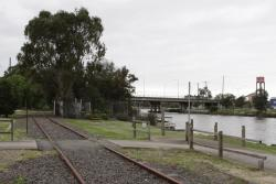 Maribyrnong River Line: Looking up the line at Saltriver Place