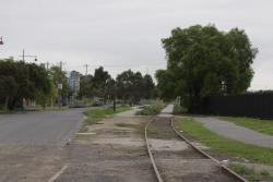 Looking up the line from Lyons Street