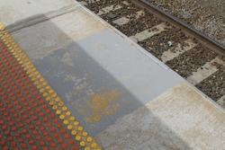 Faded 'V4' stopping mark for 4-car VLocity train sets