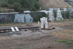 Buffer stops at the down end of Bacchus Marsh