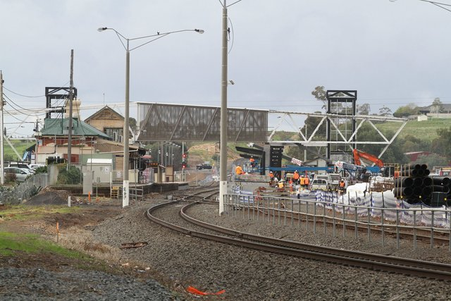 New footbridge and second platform taking shape