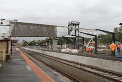 New footbridge and second platform well underway