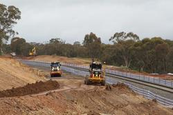 Clearing the alignment for the second track towards Maddingley at Osborne Street