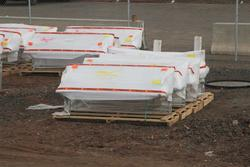 Bacchus Marsh: Platform benches delivered to the work site
