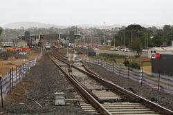 Bacchus Marsh: Up end points just west of the Fisken Street level crossing