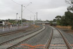 Bacchus Marsh: Second mainline in place at the down end