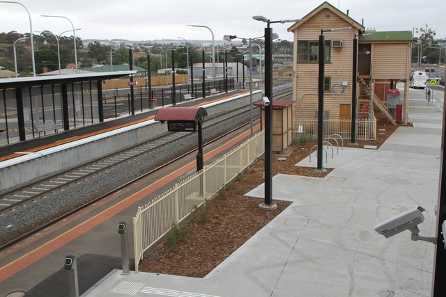 Completed upgrades on the northern station forecourt